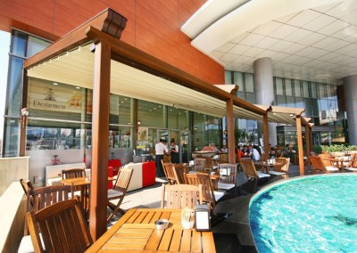 Retractable Roofing in Hotel Leisure Areas