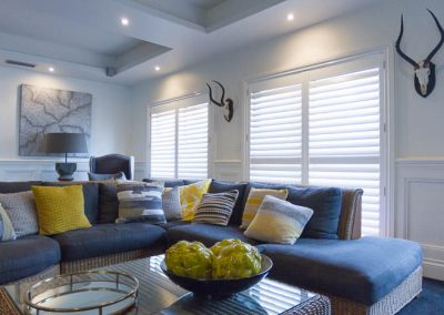 Plantation Shutters in Lounge Room