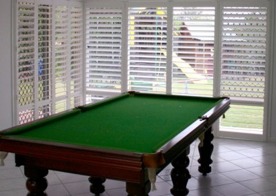 Plantation Shutters in Billiards Room