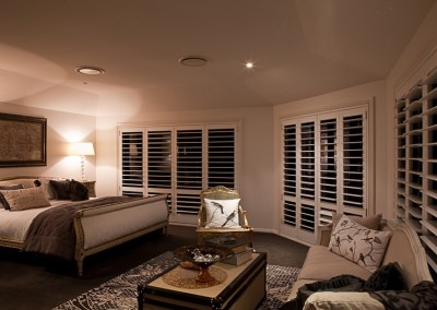 Plantation Shutters in Master Bedroom