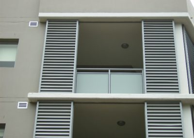 aluminium window shade on apartments