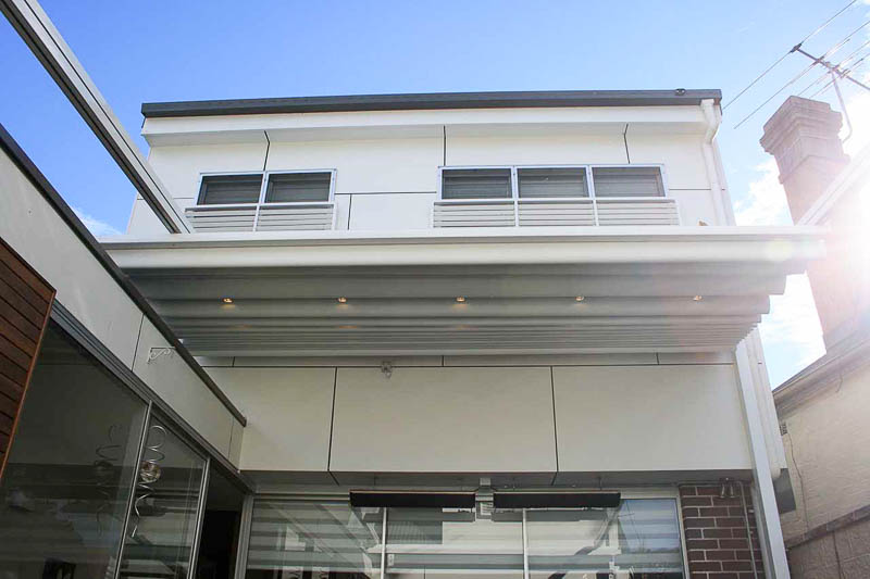 Retractable Roofing Extending From House Sydneys Northern Beaches