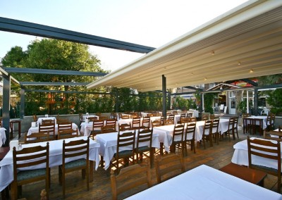 Retractable Roofing for Alfresco Dining Halls