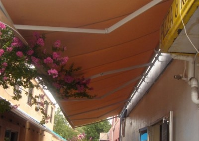 Folding Arm Awning Over Alley