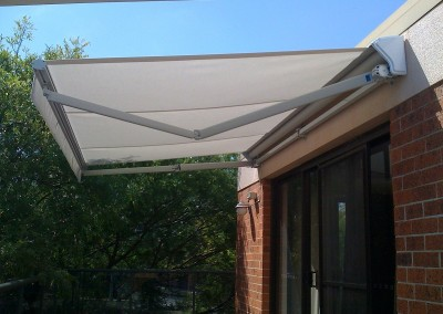 Folding Arm Awning Over Rear Sliding Door
