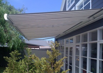 Folding Arm Awnings Over Full Length Window