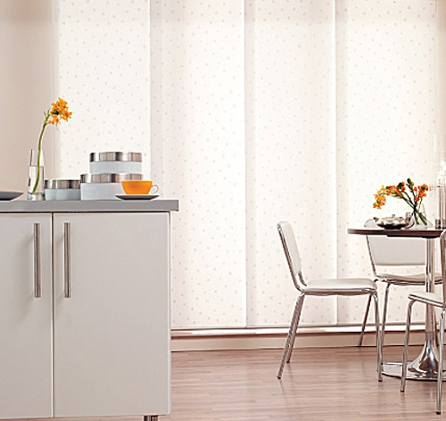 Panel Blinds in Kitchen