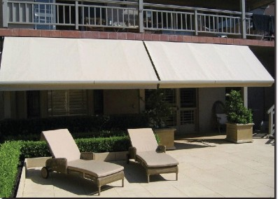 Pivot Arm Awnings Poolside Hotel