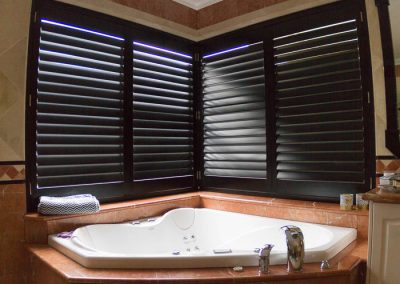 Plantation Shutters in Spa Bath Window