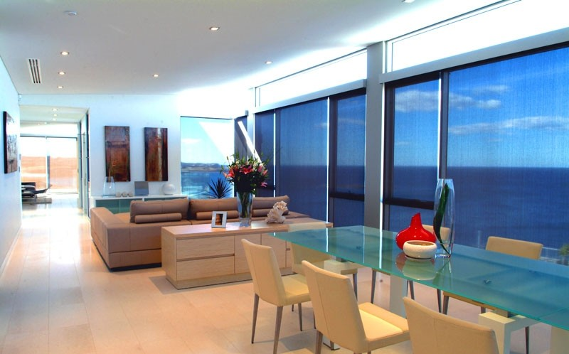 Roller Blinds For Dining Area With a View