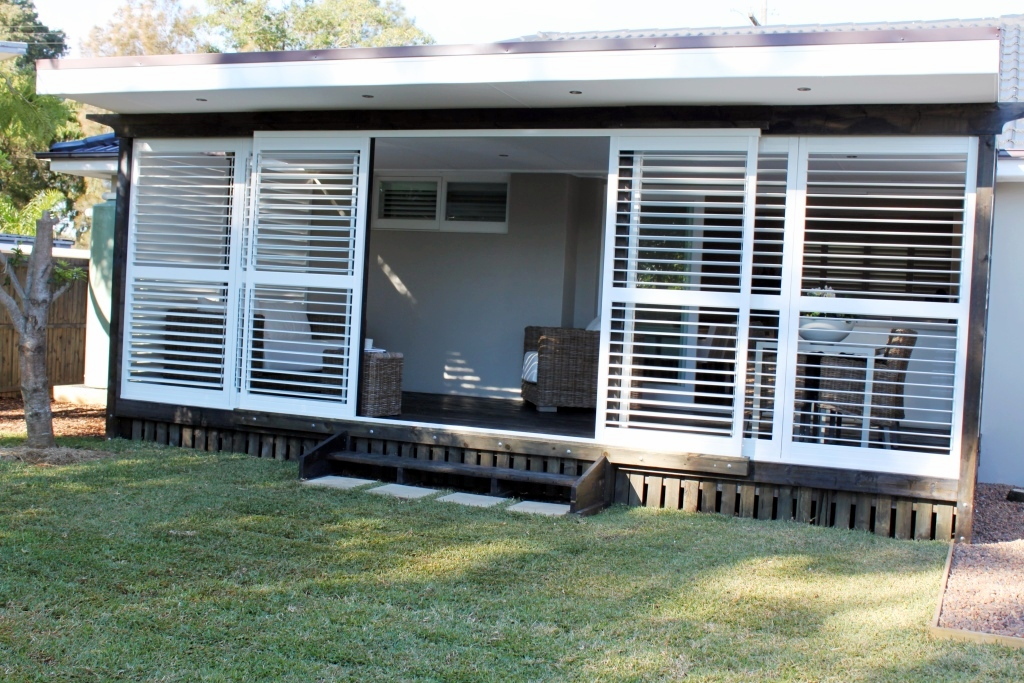 Sliding Security Shutters : Outdoor shutters sydney northern beaches