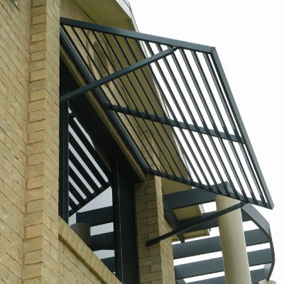 Arm Supported Louvre Awning