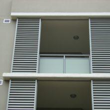aluminium window shade on apartments