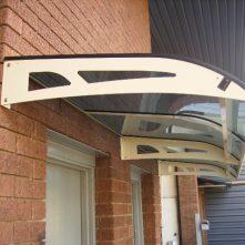 clearlite awning over door