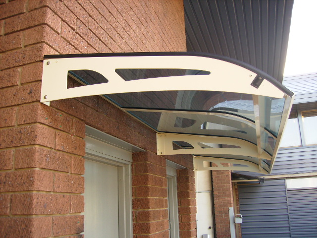 clearlite awning over door