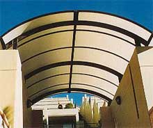 entry-polycarbonate-barrel-vault-awnings-sydney
