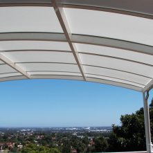 outlook from polycarbonate awning barrel vault sydney