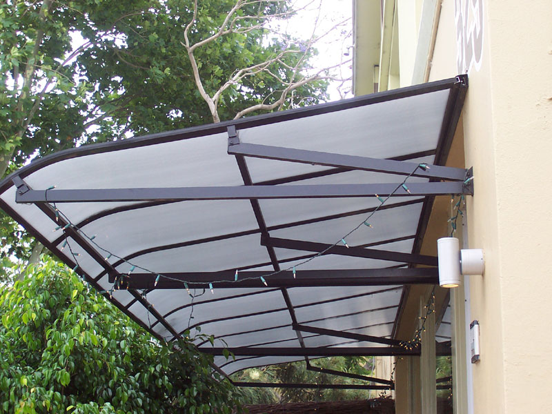polycarbonate and aluminium sydney awnings