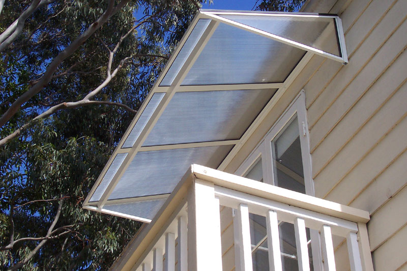 polycarbonate and aluminium sydney-window awnings first floor verandah