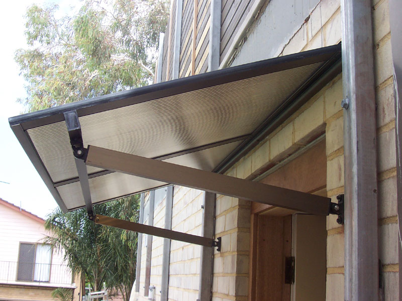 polycarbonate and aluminium window awning sydney over sliding door
