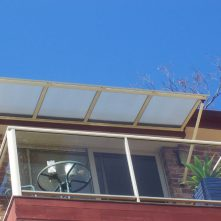 polycarbonate and aluminium window awnings sydney over verandah