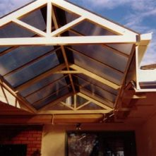 polycarbonate gable roof awning sydney