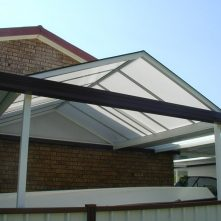 polycarbonate sydney gable roof awning