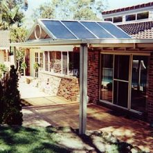 polycarbonate sydney gable roof awning over entryway
