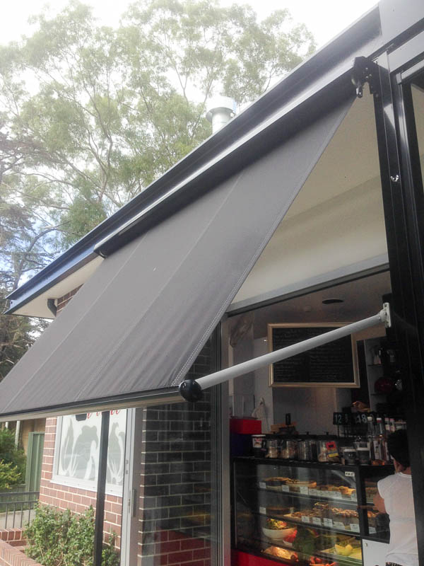 Pivot Arm Awning Side Profile