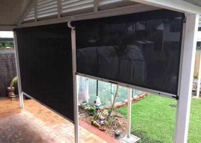 Vertical Tension Outdoor Blinds - Black Sunscreen-min